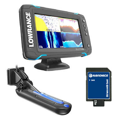 Lowrance Traceur de Cartes/GPS Elite-7Ti Totalscan + Navionics Gold Small 2 Cart