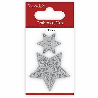 Trimcraft Dovecraft Christmas Mini Metal Card Craft Dies Set - Stars