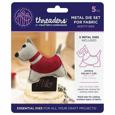 Threaders - Mixed Media Metal Card + Fabric Die Set - Scotty Dog in Red