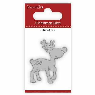 Trimcraft Dovecraft Christmas Mini Metal Card Craft Dies Set - Rudolph