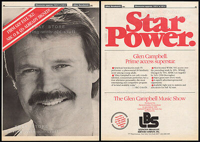 THE GLEN CAMPBELL MUSIC SHOW__Original 1982 Trade Print AD / poster_TV promo ad