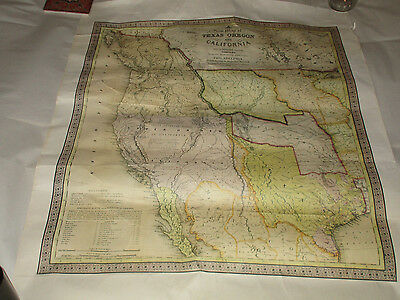 Map of Texas Oregon and California With Regions Adjoining Augustus Mitchell 1846