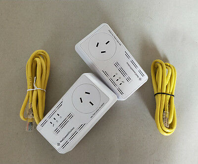 NetComm NP505F 500Mbps PowerLine Adapter 92%New Network Ethernet AU plug A pair