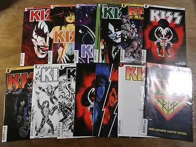 13x KISS 1; CASSADAY KISS ARMY BLIND BAG A B C D E F G H I J K L N Chu Baal