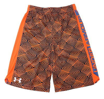 Under Armour Boys Youth Eliminator Printed Athletic Shorts, Dark Orange