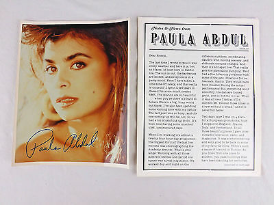 Paula Abdul Fan Club Photo Newsletter Notes & News Issue 3 Music Pop Collect 90s