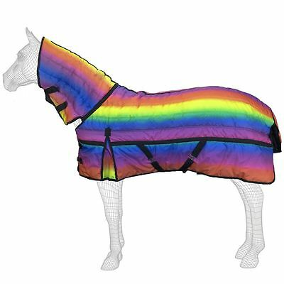 Horse Full Neck Stable 300g Winter Warm Rainbow Rug All Color & Size