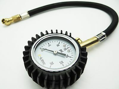 Low Pressure Tire Gauge with flex hose (0-30 psi) ATV Motorcycle Use and more