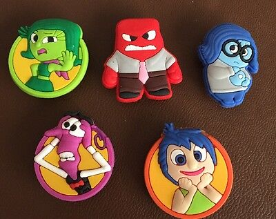 5 X Inside Out Pvc Shoe Charms, Wristbands, Croc Bags