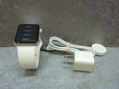 🍏 Apple Watch ~ Series 2 ~ MNNW2LL/A ~ 38mm White Aluminum Case M/L ~ iWatch 🍏