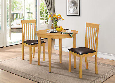 Tables Kitchen Dining Table Set Extending Folding Round Table Two Chairs Oak Finish Home Furniture Diy Goldenvillainn Com