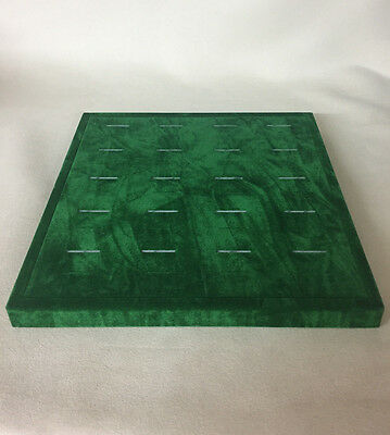 Jewellery Display Ring Trays x 3 (Vintage Green) *Made in the UK*