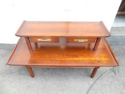 Willett Cherry Mid Century Modern Trans East Collection Console Table/server