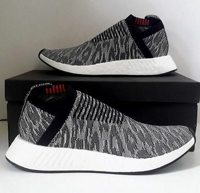 adidas nmd cs2 primeknit grau schwarz 2 3 neu. Black Bedroom Furniture Sets. Home Design Ideas