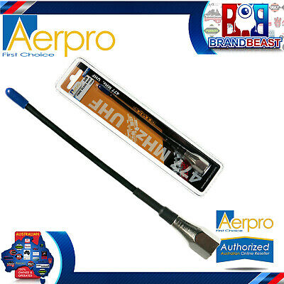 Aerpro CBA15 15cm 3dBi Elevated Feed UHF CB Whip Antenna Kit