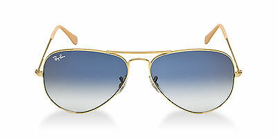 Ray Ban RB 3025 001/3F Gold Frame Blue Gradient Lens Aviator Sunglasses 58mm