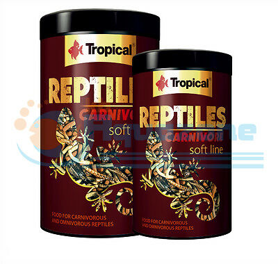 REPTILES CARNIVORE Complete FOOD for carnivorous  omnivorous reptiles TROPICAL
