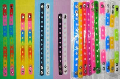 Silicone Bracelets Wristbands x2 for Shoe Charms