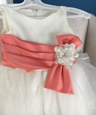 Flower Girl Tulle Princess Dress Party Pageant  Dresses Size 5