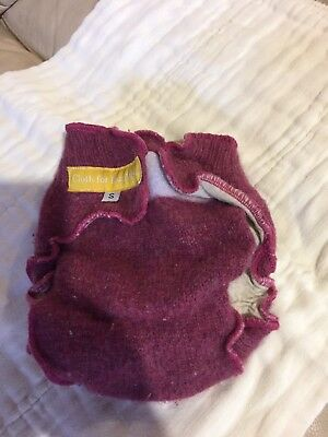 Merino Wool cover diaper, size small