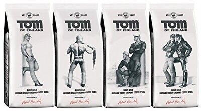 Tom Of Finland 4-pack Including 4 X 250 G Gound Coffee Packs