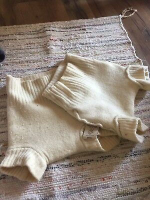 Lot of 2 Organic Wool Soaker Diaper Covers Shorties. Tiny Tush, sizes S, M