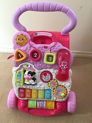 Vtech First Steps Baby Walker With Phone EUC