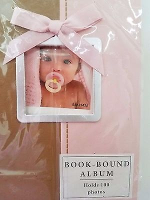 NWT!  HALLMARK BABY Photo Picture ALBUM Book Holds 100 Photos (4x6) PINK BROWN