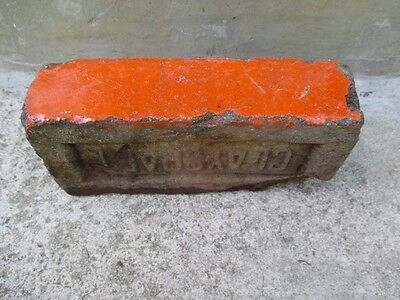 Antique Vintage Rare Claycraft Dark Marigold Orange Glazed  Brick