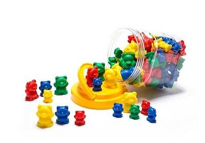 Counting Bears - Sorting Bears - 96 Bears - 3 sizes 4 colours - Maths Counters
