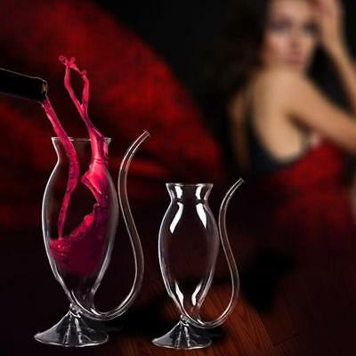 200ml 300ml Glass Wine glass Vampire Cup Built in Drinking Tube sucking party