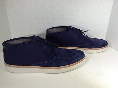 CALVIN KLEIN Jake Men's Size 12 Blue Suede Casual Loafers Shoes X1-1685