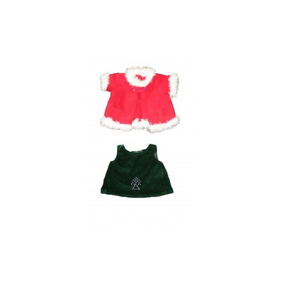Christmas Bear Dress and Coat Teddy bear clothes