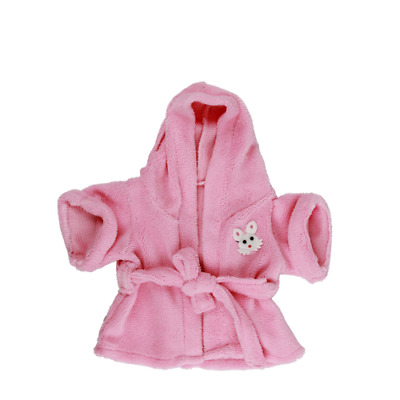 Bathrobe w Bunny Motif Teddy bear clothes