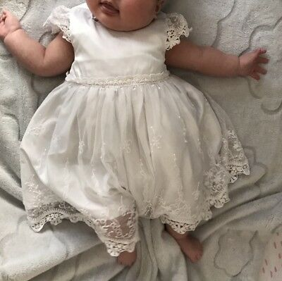 bebe by minihaha baby girl White Dress Size 00 (3-6months)