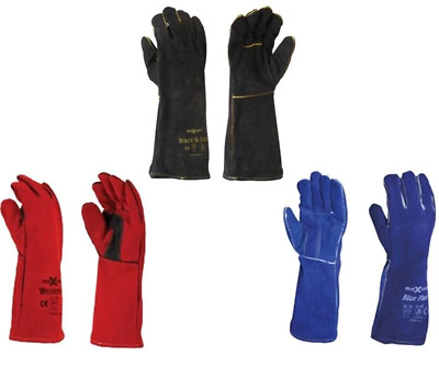 Maxisafe Multipack Multicolour Welder Gauntlet Glove Fabrication Foundry Safety