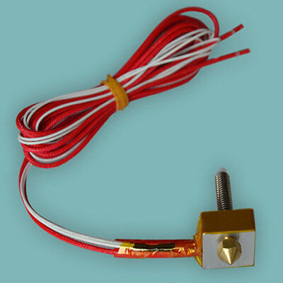 Extruder Hot End Set For Prusa i3 3D Printer 1.75mm MK8 0.2/0.3/0.4/0.5mm Part