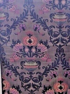 Antique French c1920s Home Jacquard Brocaded Lampas Persian Frame Fabric