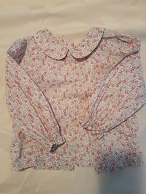 Bebe baby girls blouse liberty fabric long sleeve 18 month
