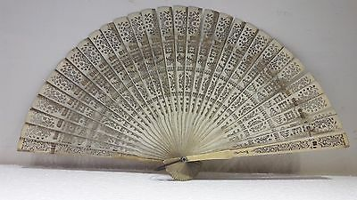 ANTIQUE 18TH CHINESE FILIGREE BRISE hand FAN