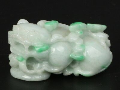 Chinese Exquisite Hand-carved brave troops statue Jadeite jade Pendant