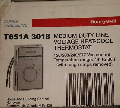 Honeywell T651A3018 Heat / Cool Thermostat