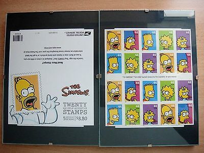 The Simpsons Collection Stamps Booklet (20X$0.44) Homer Cover Page in Frame