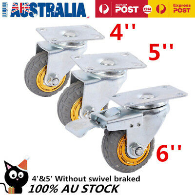 4x Heavy Duty Swivel Caster Wheels Castor 4' /5'/6'