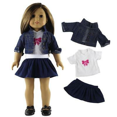 "For 18"" American Girl Our Generation Dolls Fairy Doll Clothes Dress Jeans"