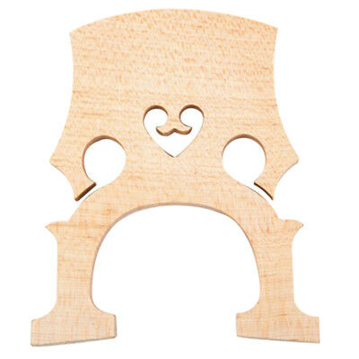 Firm Replacement 1/2 Size Cello Bridge Insert 93 x 75 x 10.1mm Aged Maple