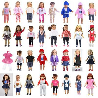 Cute Doll Clothes Top Pants/Dress Outfit for 18inch American Girl Doll Accessory
