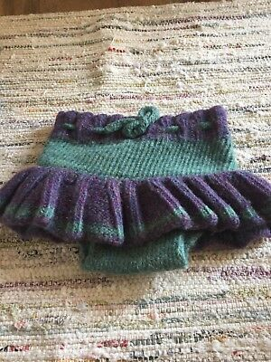 wool cloth diaper cover soaker skirt size small