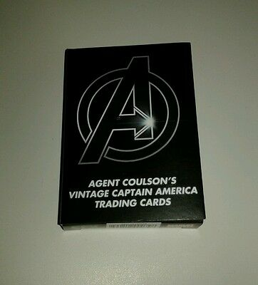 """Captain America """"agent Coulson's Vintage Captain America Trading Cards"""" Efx New"""