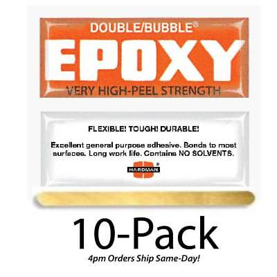 Hardman Double Bubble Orange  Epoxy-High Peel Strength 10-Pack-#04007